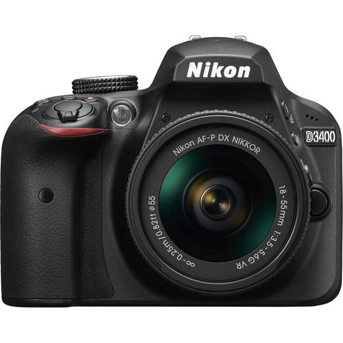 Nikon D3400 DSLR Camera with 18-55mm Lens (Black)