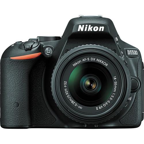 Nikon D5500 with 18-55mm VR II lens (Black)