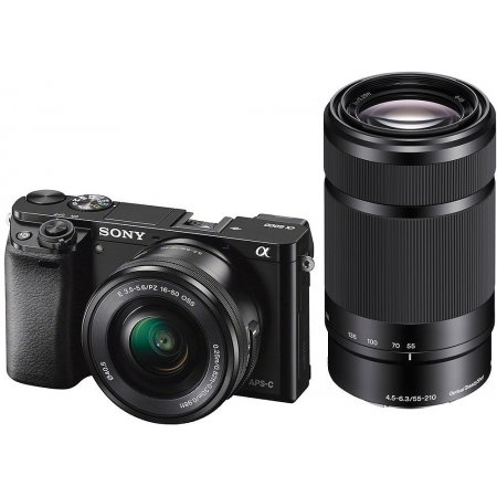 Sony Alpha a6000 Camera with 16-50mm and 55-210mm Lenses Kit (Black)