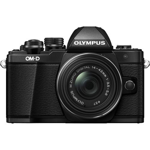 Olympus OM-D E-M10 Mark II Body with 14-42mm II R Lens (Black)