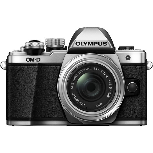 Olympus OM-D E-M10 Mark II Camera with 14-42mm II R Lens (Silver)
