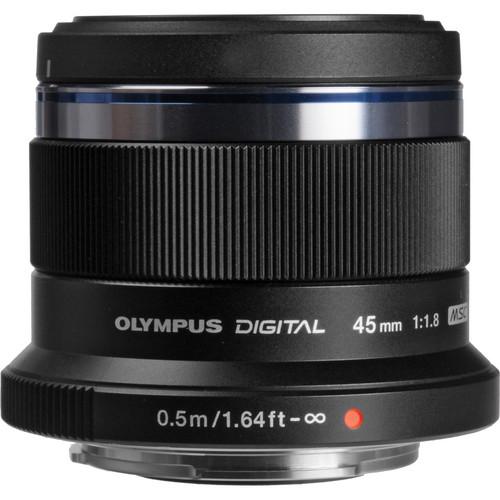 Olympus M. Zuiko Digital ED 45mm f/1.8 Lens (Black)